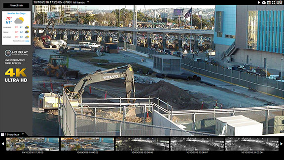 us relay construction cameras live interactive images in high definition plus