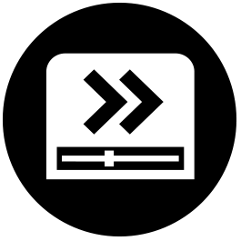 usrelay clear icons for ichd fast forward playback black