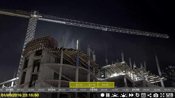 us relay construction cameras jobsite security and online recording night screen shot 03