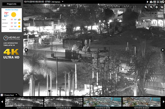us relay construction cameras live interactive images in high definition plus at night